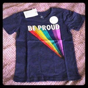 Be Proud Rainbow Tee, size 4